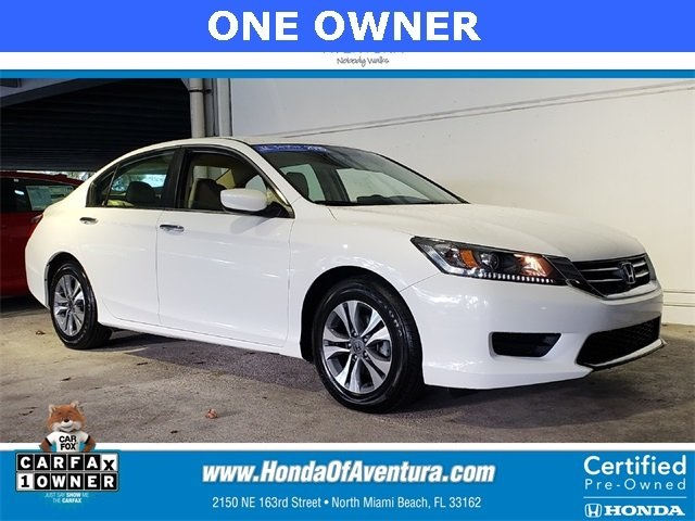 Certified Pre Owned 2015 Honda Accord LX